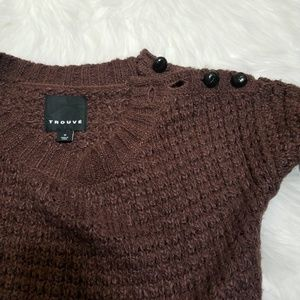 Trouve Sweaters - Trouve Knit Brown Sweater Size Medium
